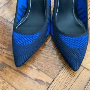 Zara Shoes - Zara blue and black mesh stilettos